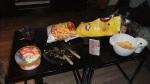 Sedan blev det tvhäng hos mig med Therése och Michan. Och mat. Massor av mat.