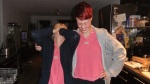 Jag och Therése var sjukt snygga i matchande t-shirts... Sedan däckade vi efter halva SYTYCD. Pigga och glada.