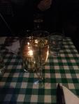 Champagne till middagen.