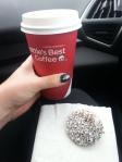 Kaffe och delicatoboll is the hit.