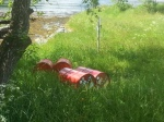 Ah, yes, red barrels that look like they say JET FUEL. I feel so close to nature!