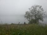 Mist on the fjord.